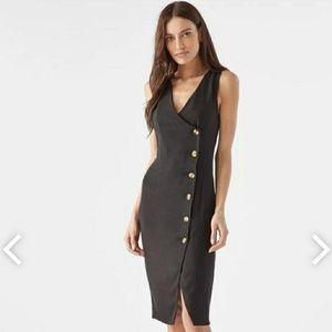 NWT Button Detail Slit Dress